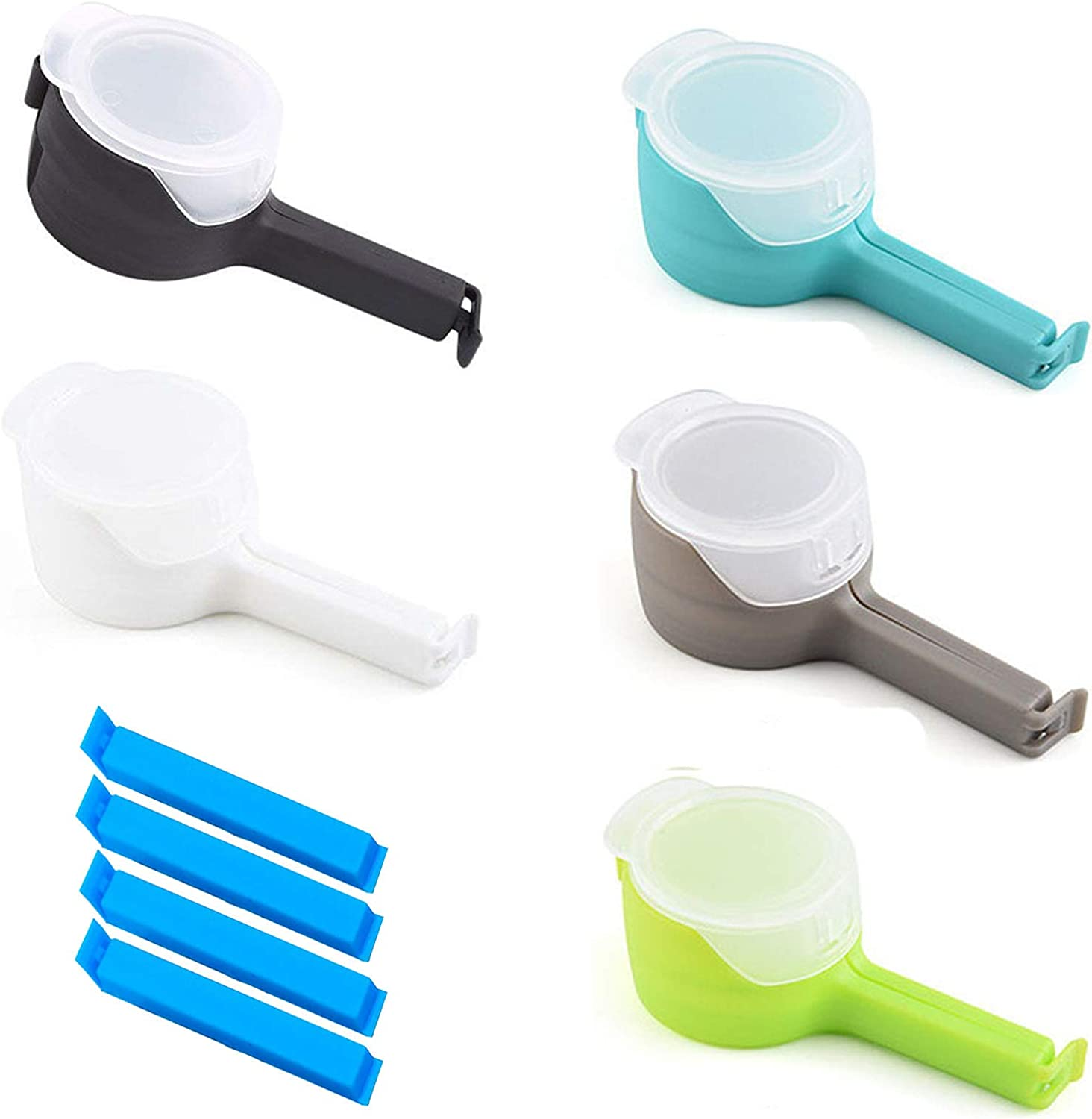 Food Bag Sealing Clips, Bag Clips for Food Storage with Large Discharge Pour Spouts Moisture Sealing Clamp, Snack Food Plastic Cap Sealing Clip