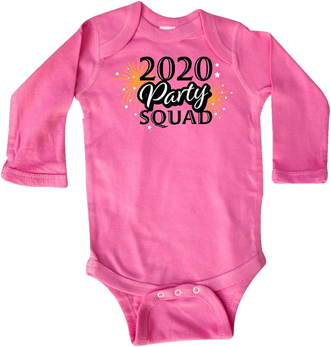 inktastic 2020 New Years Party Squad with Gold Fireworks Long Sleeve Creeper