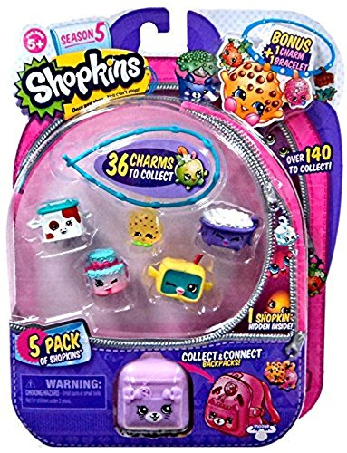 SHOPKINS Season 5 ULTRA RARE Kooky Cookie(5-122) Bonus Charm and Bracelet