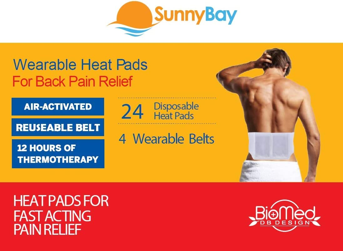 Disposable Heat Patches for Back Pain Relief - Joint Shoulder Neck Pain Menstrual Heating Pad Cramp Heat Patches Disposable Air-Activated Portable Personal Non Electric Deep Muscle Hot Pack: Health & Personal Care