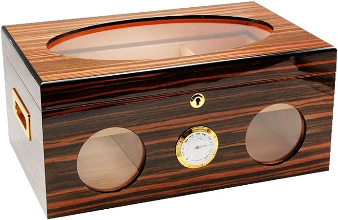 LinLiXJH Humidores Accesorios de Puros Caja Caja de Puros Humidor de Madera de Cedro 120 Palos