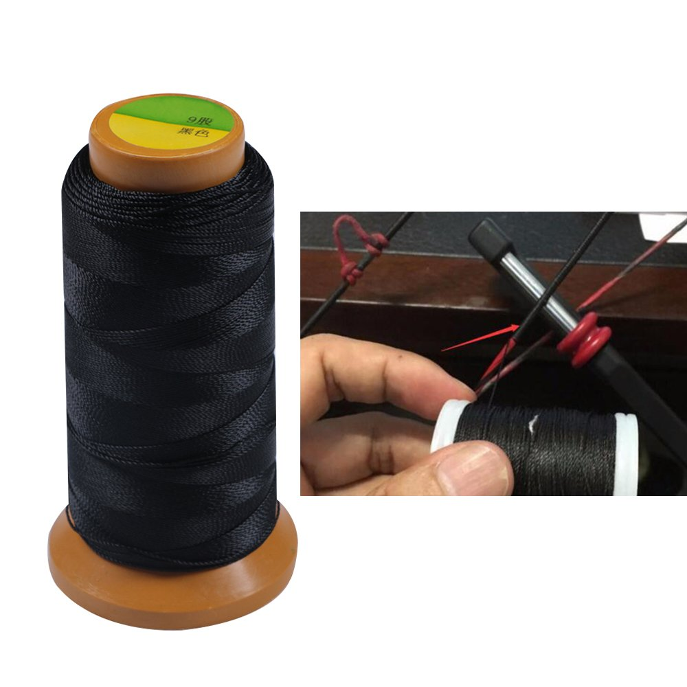 IRQ Archery Fiber Bow String Serving Thread 328 Yards Strong Pull Bowstring Protector Black