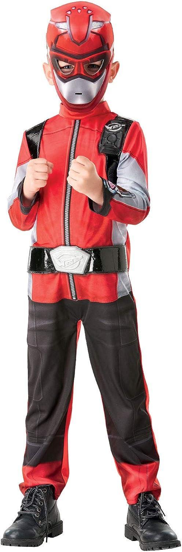 Costume de Ranger rouge de luxe pour enfants Rubies D/éguisement officiel de Power Rangers Beast Morphers