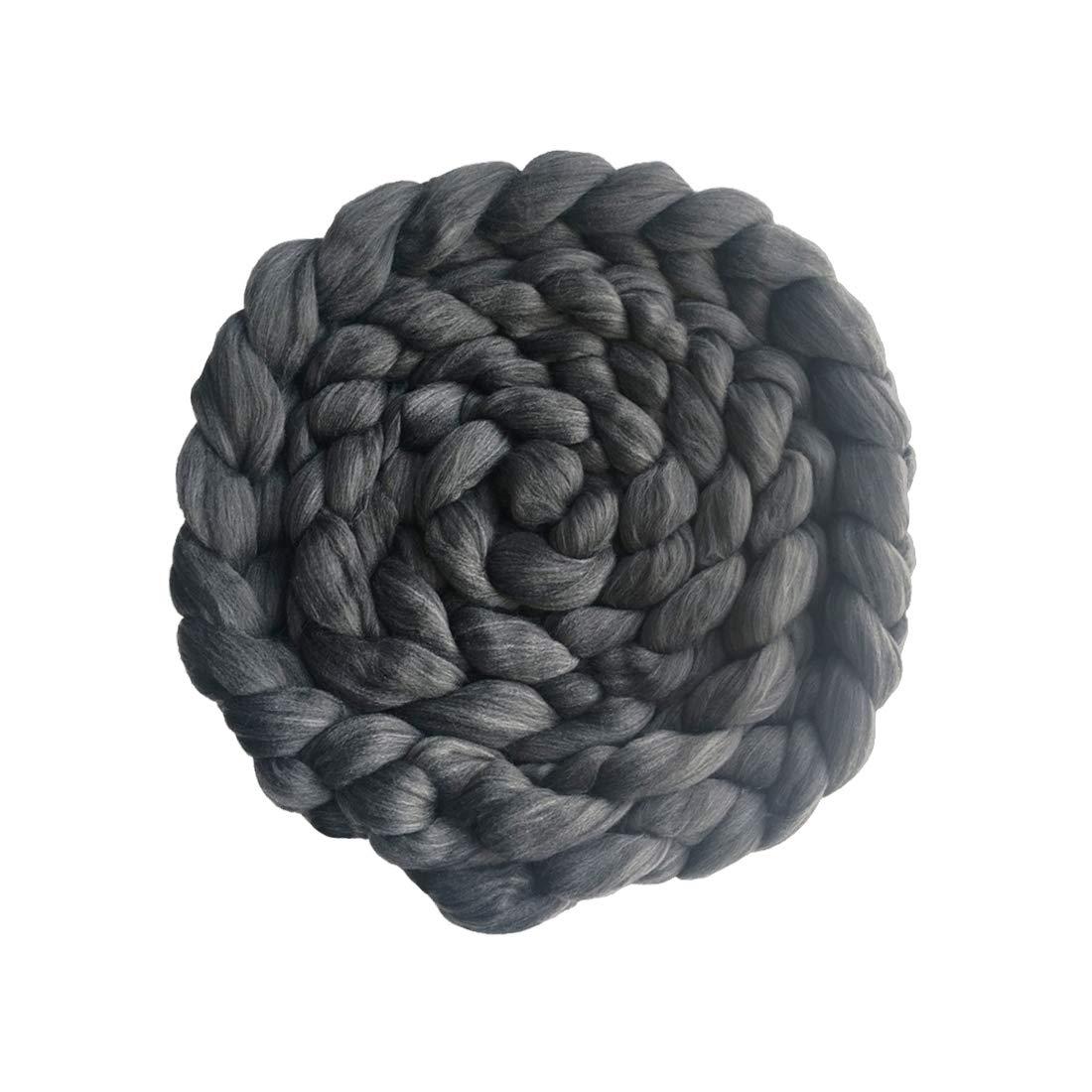 Newborn Photography Props Blanket Basket Braid Wool Wrap Newborn Baby Photography Props(Deep Grey)