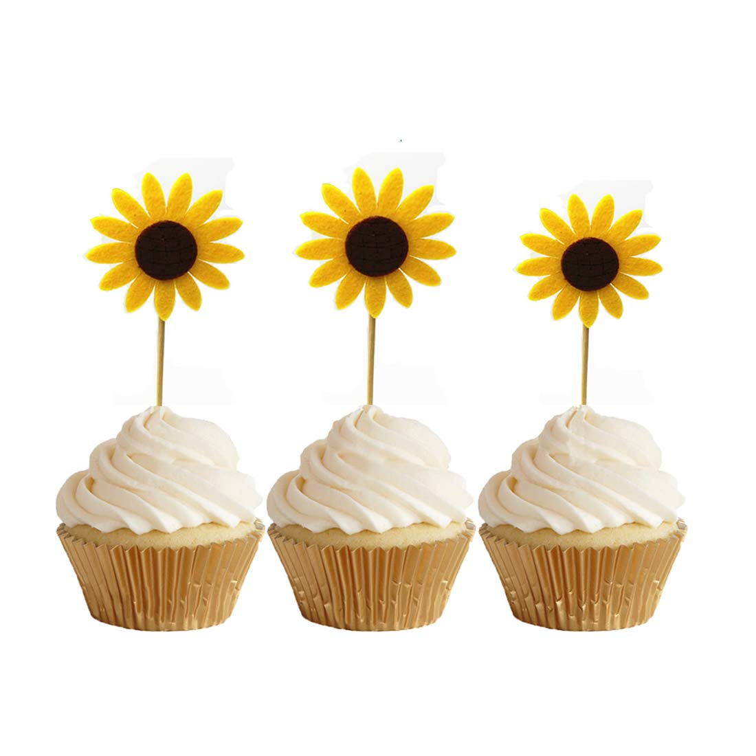 CakeSupplyShop Sunflower Edible Sugar Decorations for ...