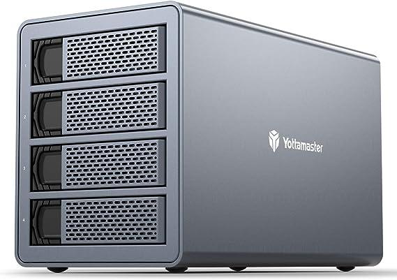 Yottamaster Aluminum 4 Bay Raid Festplattengehäuse Computer Zubehör