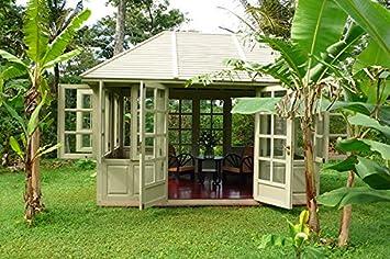 Jardín Casa fiete House Gazebo caoba madera hogar Caseta bloque casa Mint: Amazon.es: Jardín