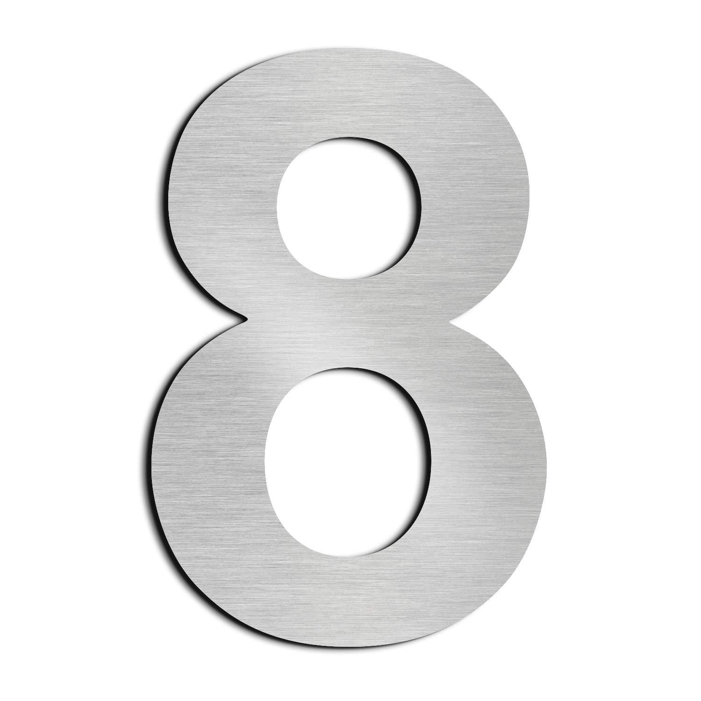 Nanly House N/úmero 5 Cinco hecho de acero inoxidable 304 s/ólido flotante apariencia 20,5 cm 8 en f/ácil de instalar 4