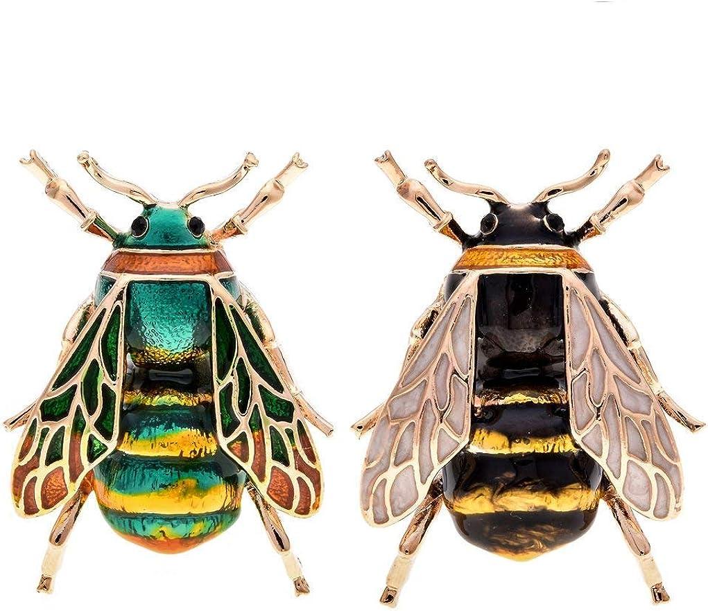 TOOGOO Broches de Esmalte Insecto Animal Natural de Moda Pin de Aleación de Abeja Joyas Vintage para Mujer, Abeja