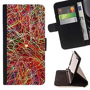 BullDog Case - FOR/HTC One M9 / - / COLOR EXPLOSION /- Monedero de cuero de la PU Llevar cubierta de la caja con el ID Credit Card Slots Flip funda de cuer