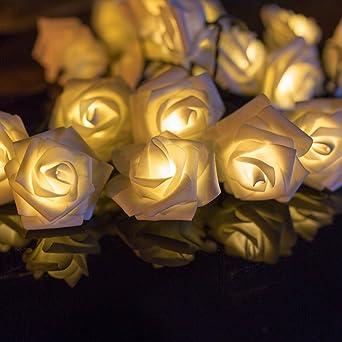 H D Youngsun 30er Led Solar Lichterkette Rosen Blumen 6 35 Meter
