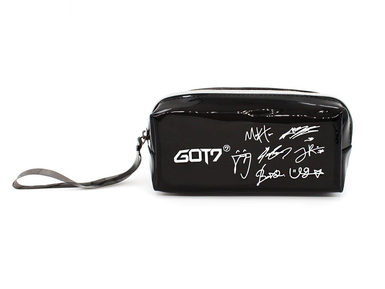 Fanstown BTS KPOP鉛筆ケース+ BTSロゴペンダントwith Signature PVCカード B078XG4Q7W Pu-got7 Pu-got7