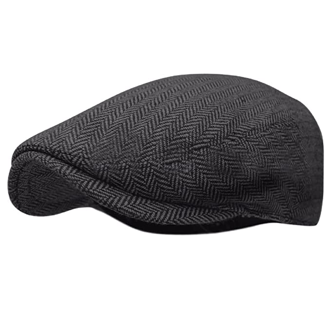92357644d Herringbone Ivy Hat Wool Stripe Gatsby Cap Golf Driving Flat Cabbie Newsboy