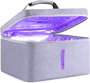 LED UV Germ Zapper UV Sanitizer Bag, LED With USB Powered UV Sterilizer, 99% Cleaned for Smart Phone, Baby Bottle, Pacifiers Jewelry, Tools, Kitchenware (GREY)