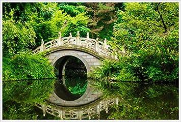 Papier Peint Photo Mural Jardin Japonais 41p 350x260cm 7les Colle