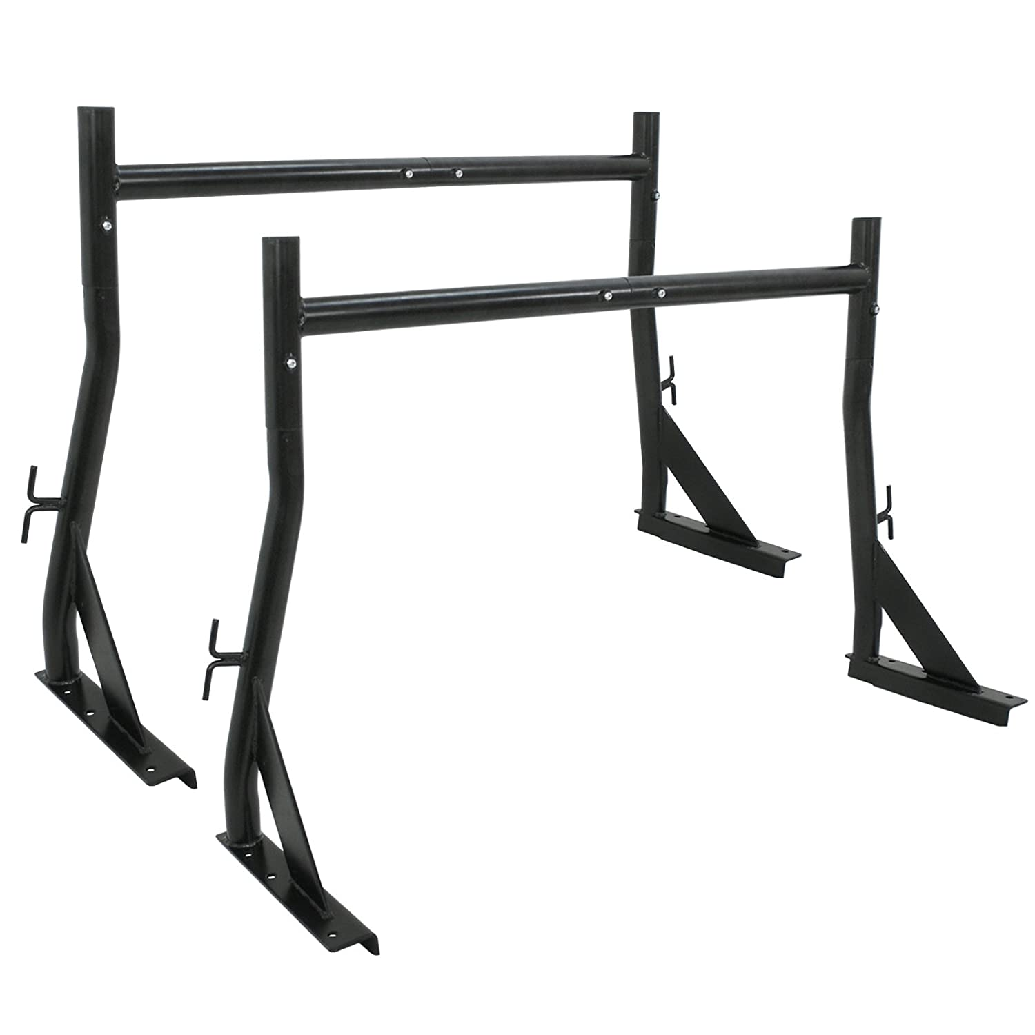 ZENY Set of 2 Bars Pickup Rack Truck Ladder Rack 650LB Adjustable Universal Utility Contractor Lumber Utility,Steel