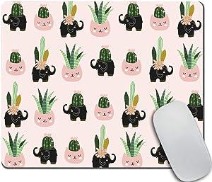 Amcove Cute Mouse Pad School Supplies Dorm Decor Elephant Mouse Pad Cute Office Supplies Pink Office Decor Cactus Mouse Pad Desk Accessories