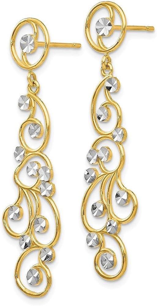 1820 Goldfilled earring Chandelier Filigree Earrings with post