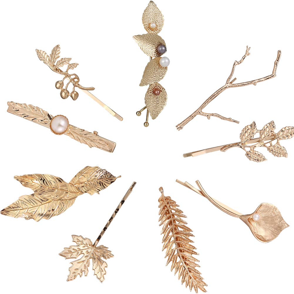 Leaf Hair Clip Women Jewelry Accessories Hairpin Girls gift Feather Metal Shape
