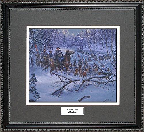 Mort Kunstler CONFEDERATE CROSSING Framed Wall Art Civil War Print, (Limited Edition Art Union)