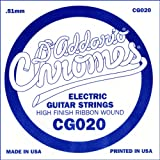 D\'Addario CG020 Flat Wound Electric Guitar Single String, .020