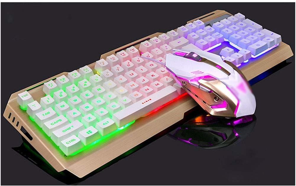 Juego de teclado mecánico de mano y ratón para ordenador ...