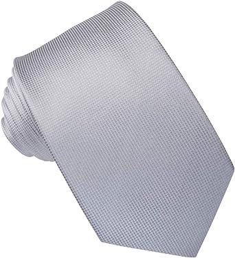 JOSVIL Corbata de Seda Gris Perla: Amazon.es: Ropa y accesorios