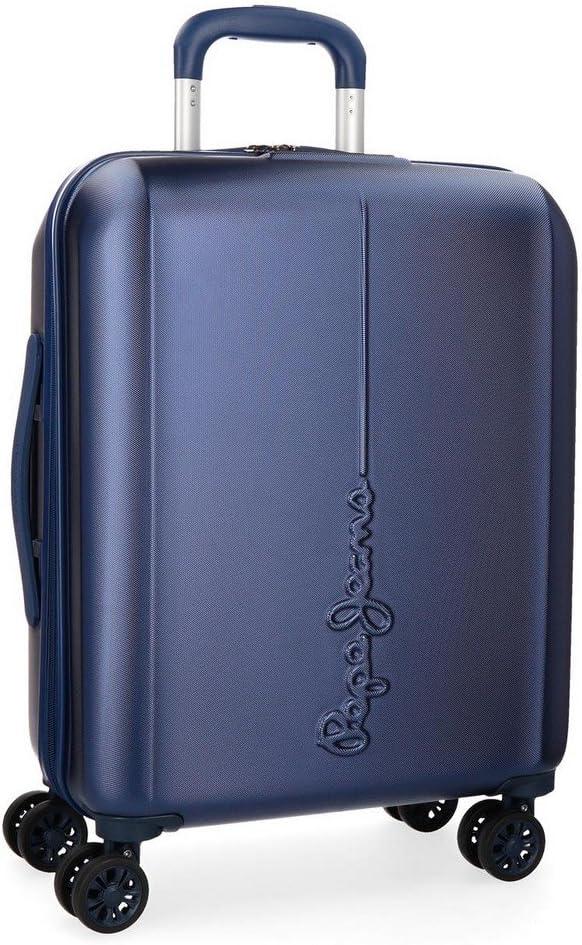 Maleta de cabina Pepe Jeans Cambridge Azul rígida 55cm