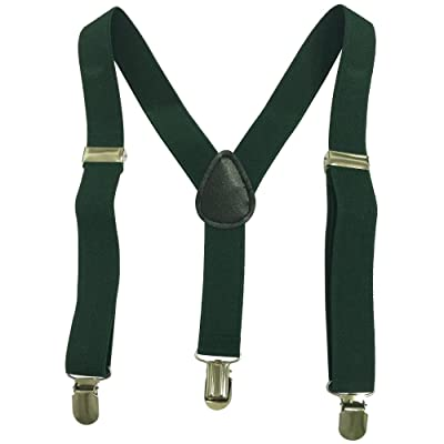 Boys girls Children Kids and Baby Elastic Adjustable 1 inch Suspenders Multi Color