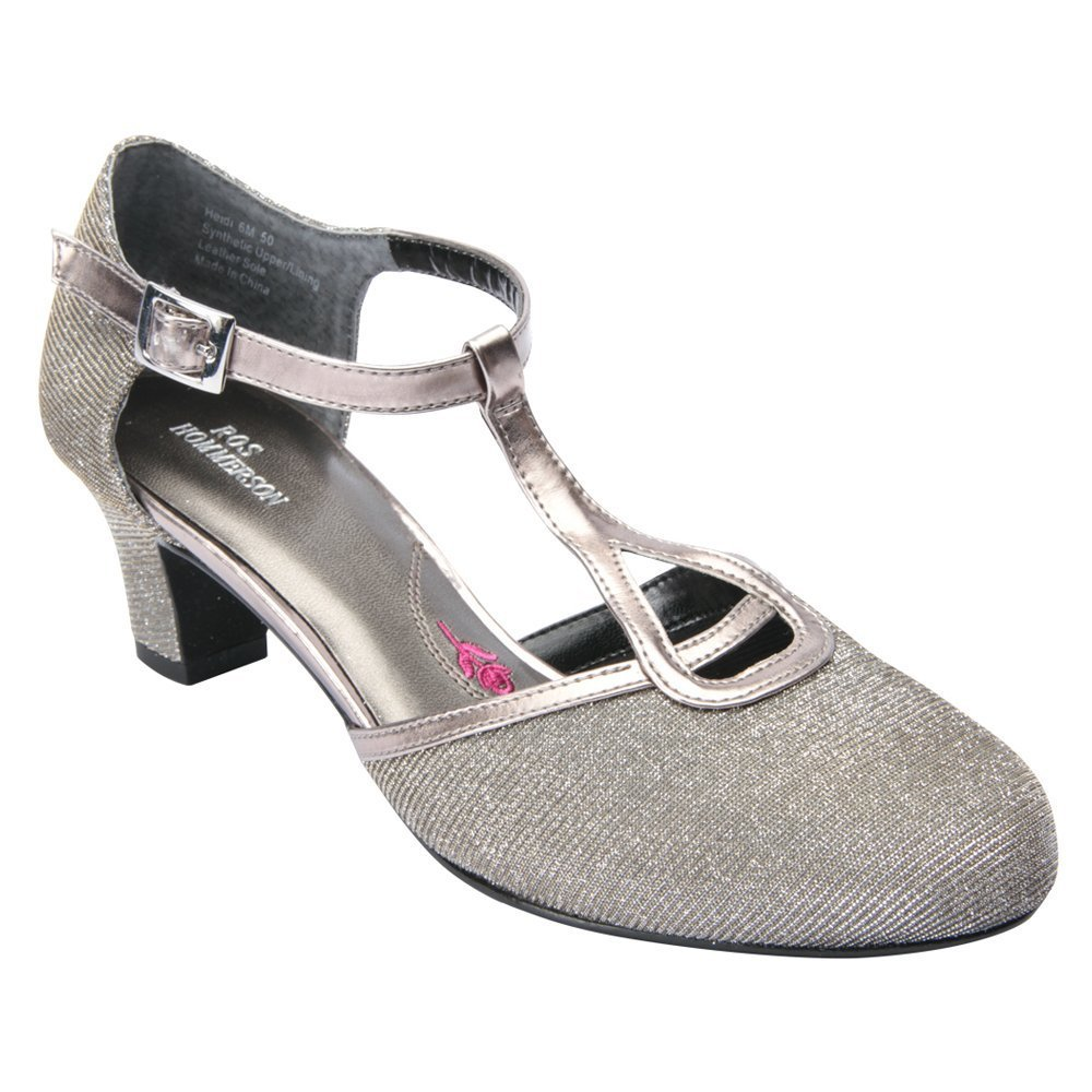 1920s Style Shoes ROS Hommerson Womens Heidi T-Strap Leather Foam Fashion Pumps $109.95 AT vintagedancer.com
