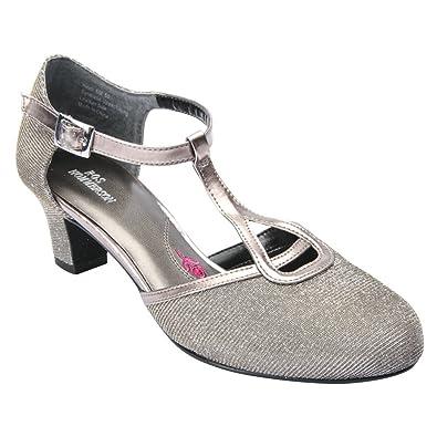 Ros Hommerson Women's Heidi Silver Iridescent Glitter Fabric 13 SS