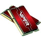 Patriot Memory Viper 4 Series DDR4 16GB (2 X 8GB) 2400MHz SODIMM Kit 16 DDR4 2400 MT/s (PC4-19200) DRAM (PV416G240C5SK)