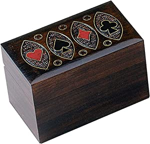 Playing Card Box Polish Handmade Linden Wood Keepsake Box