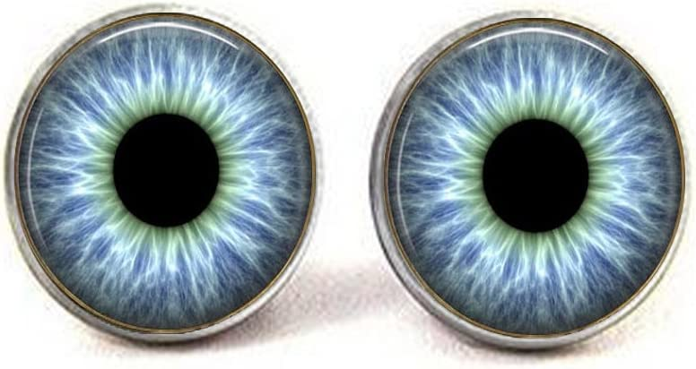 Blue eyeball earrings