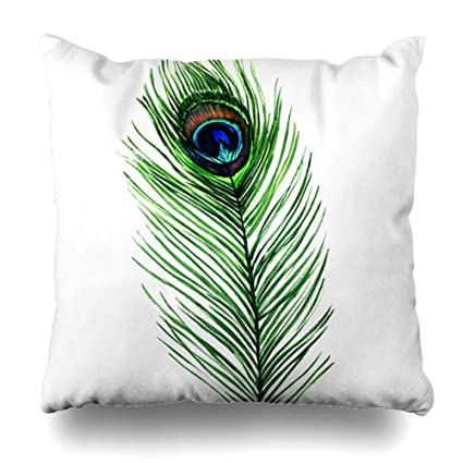 Amazon.com: Ahawoso Throw Pillow Cover Pillowcase Blue ...