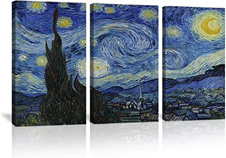 Starry Night by Van Gogh Famous Oil Paintings Reproduction Giclee Canvas picture