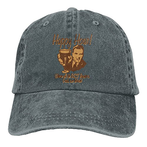 Richard Happy Hour Where The Best Business Deals Are Made Adult Cotton Washed Denim Leisure Hats Adjustable - British Sunglasses Designers