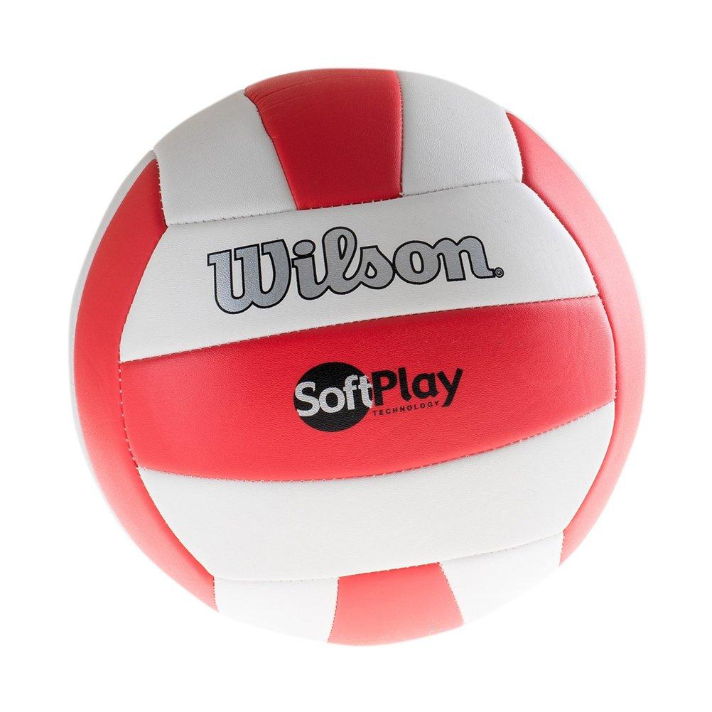 Wilson Ballon de Beach-volley, Extérieur, Utilisation Récréative, Taille Officielle, SOFT PLAY, Rouge/Blanc, WTH3511XB WIMQG|#Wilson Team Sport