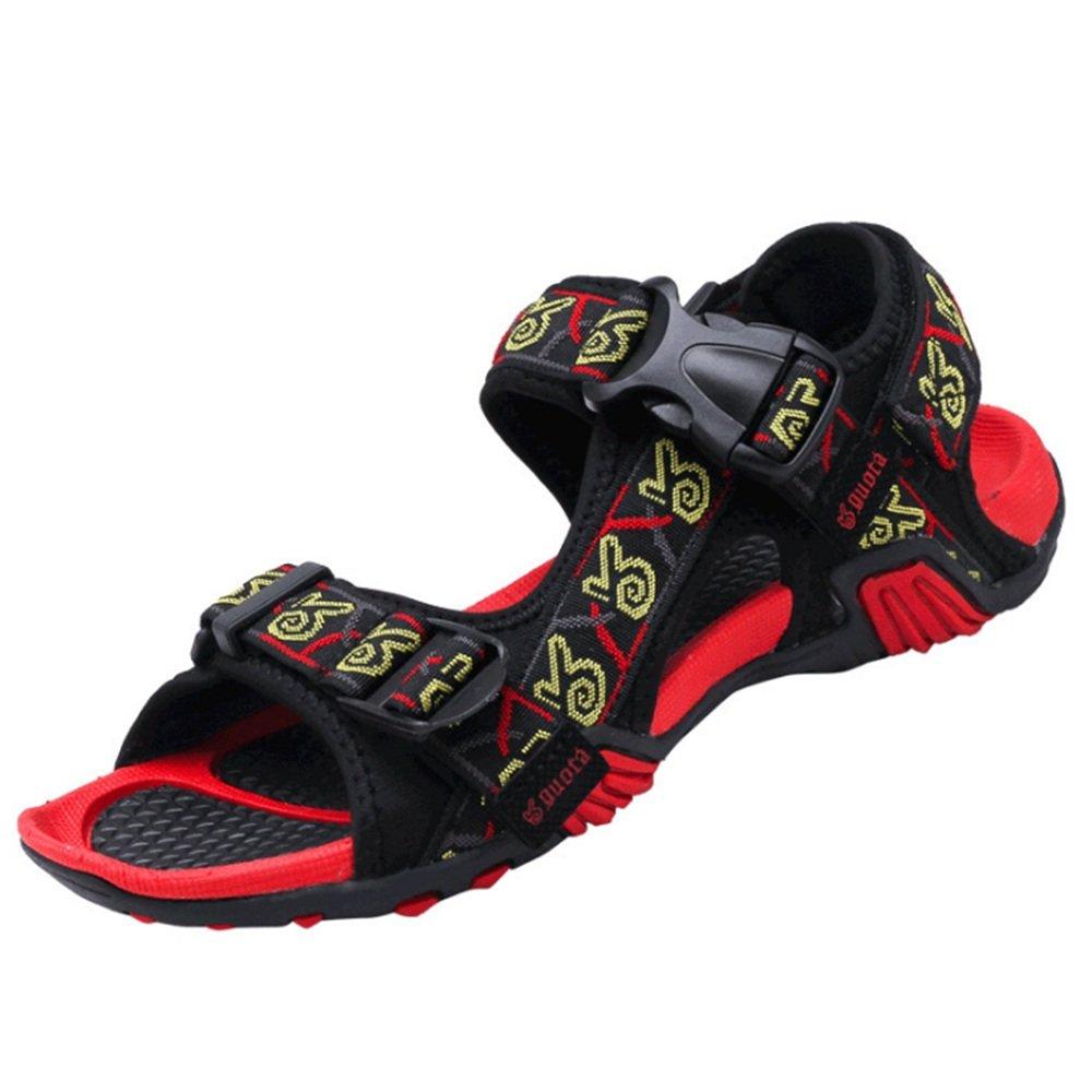 Wangcui Sandalias de verano para hombre al aire libre y cómodas sandalias de colores, tela, Rojo, 44 44|Rojo