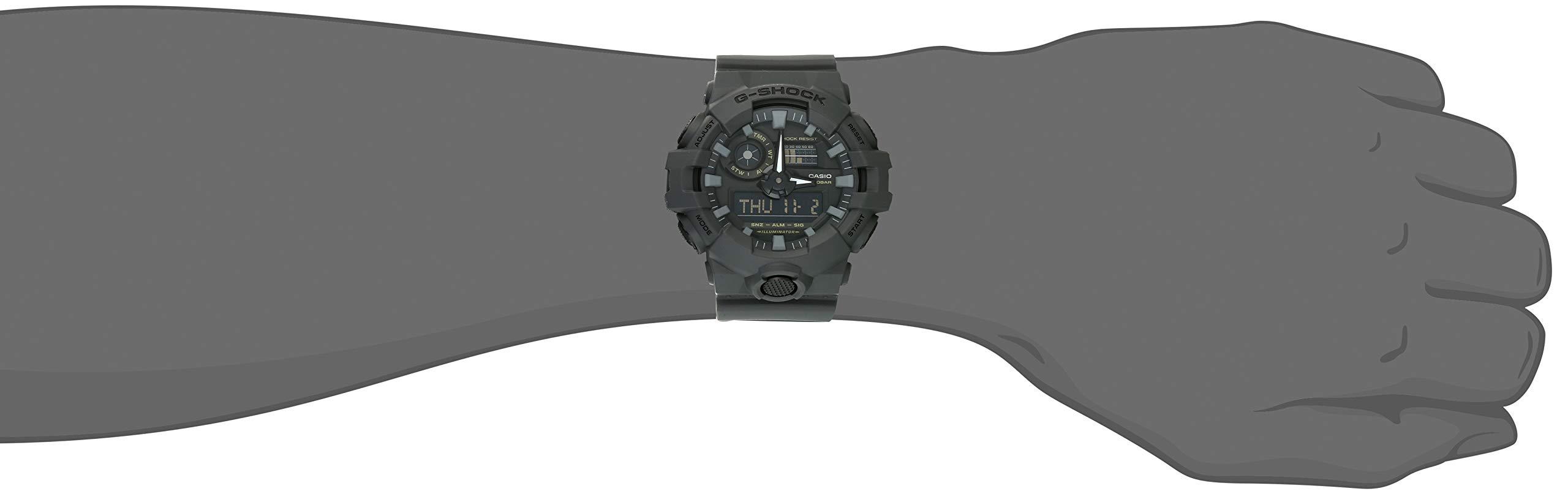Casio Men's XL Series G-Shock Quartz 200M WR Shock Resistant Resin Color: Matte Grey (Model GA-700UC-8ACR) by Casio (Image #2)