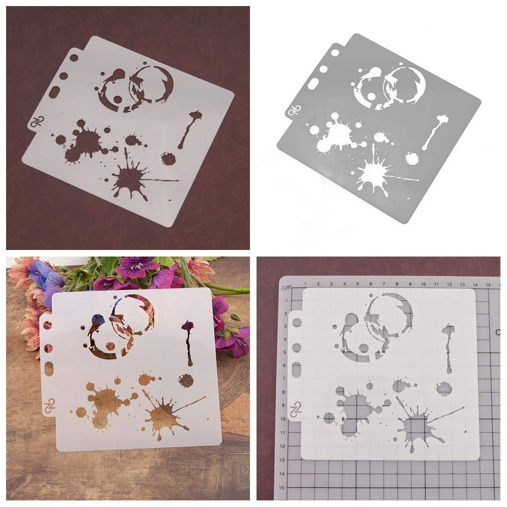 8pcs/Set DIY Craft Star Layering Stencils for Walls Painting Scrapbooking Stamp Album Decor Embossing Paper Card Template by ZDUANG (Image #2)