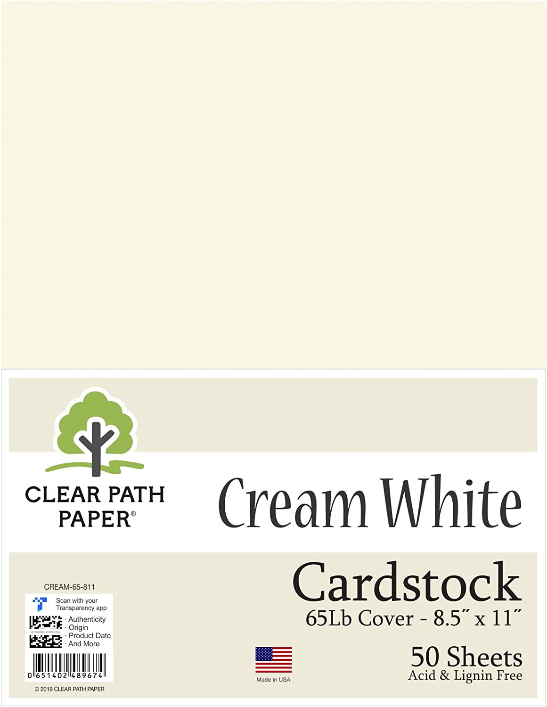 Cartulina color blanco crema de 21,6 x 27,9 cm – 65 lb cubierta: Amazon.es: Juguetes y juegos