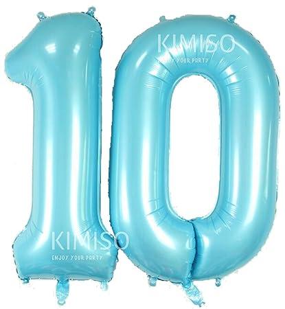 number 10 birthday balloon
