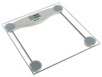 Bascula baño digital precision electronica cristal pantalla LCD hasta 150KG