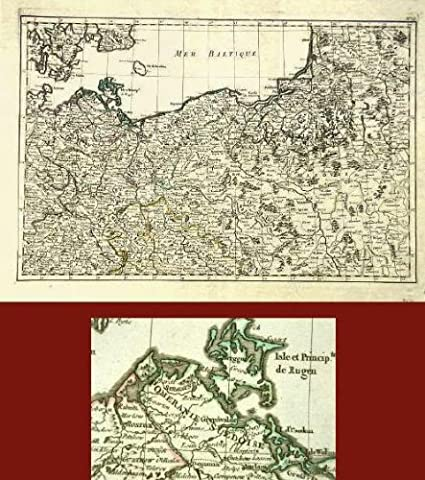 Amazon Com Antique Map Europe Russia Germany 1762 Etchings