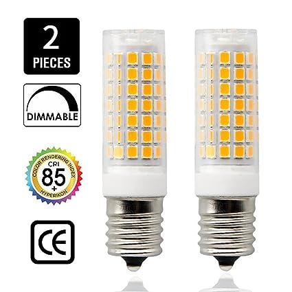 Bombilla LED E17 regulable, base de candelabro de cuerpo de cerámica, 6,5
