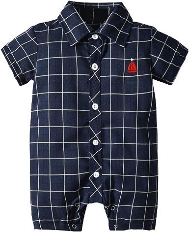 SUDADY Pelele de bebé niña de Rejilla Gentry Camiseta de Verano ...
