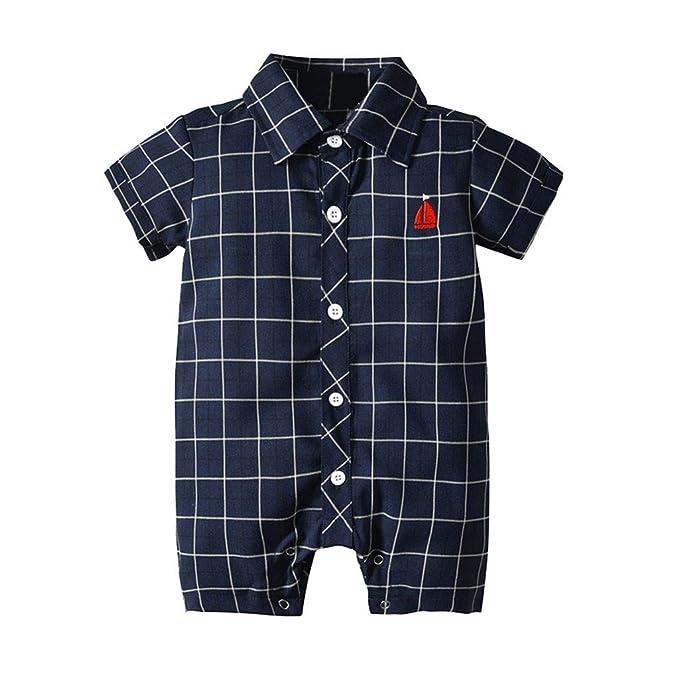 Divertido Pijama, K-Youth Caballero Enrejado Mameluco Bebe ...