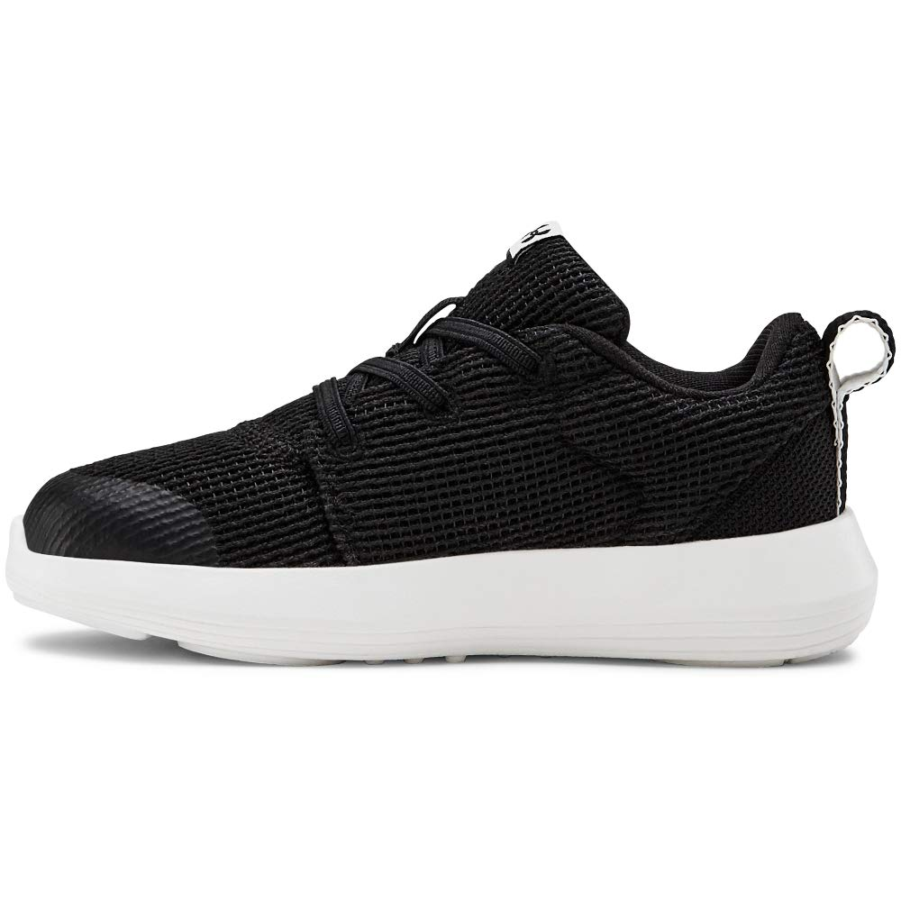 Under Armour Baby Infant Ripple 2.0 Alternate Lace Sneaker, Black (001)/White, 9 by Under Armour