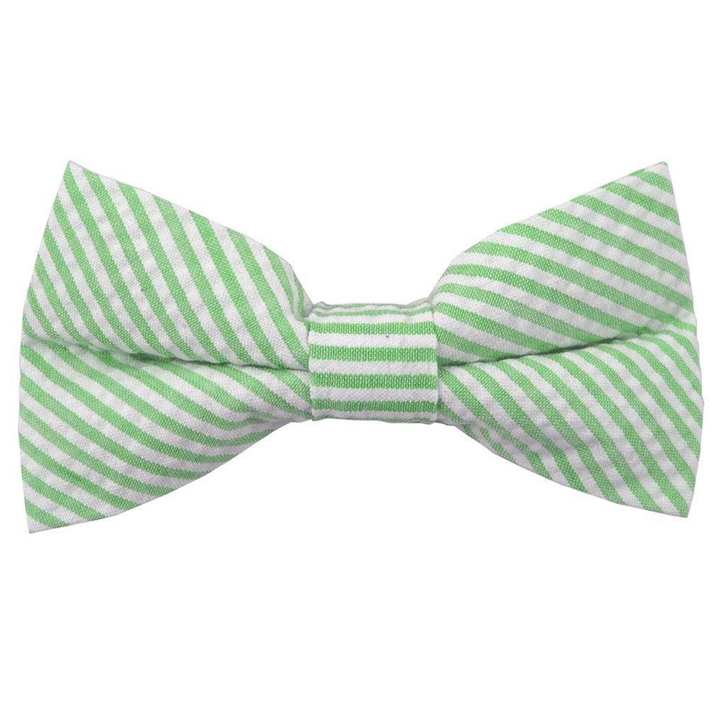 Absolute Stores Mens Tie Yourself Green Seersucker Bow Ties